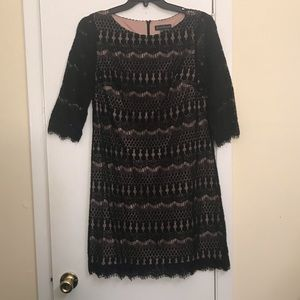 Jessica Howard Little Black Lace Dress